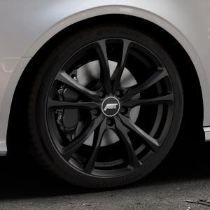 ABT Sportsline ER-C Matt black Felge mit Reifen schwarz in 18Zoll Winterfelge Alufelge auf silbernem Audi A3 Typ 8V (Cabriolet) ⬇️ mit 15mm Tieferlegung ⬇️ Industriehalle 1 Thumbnail