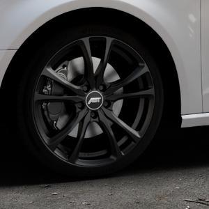 ABT Sportsline ER-C Matt black Felge mit Reifen schwarz in 18Zoll Winterfelge Alufelge auf silbernem Audi A3 Typ 8V ⬇️ mit 15mm Tieferlegung ⬇️ Industriehalle 1 Thumbnail
