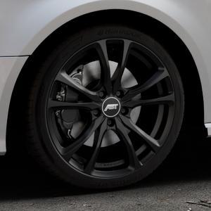 ABT Sportsline ER-C Matt black Felge mit Reifen schwarz in 18Zoll Winterfelge Alufelge auf silbernem Audi A3 Typ 8V (Sportback) Facelift ⬇️ mit 15mm Tieferlegung ⬇️ Industriehalle 1 Thumbnail