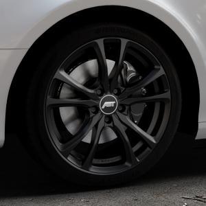 ABT Sportsline ER-C Matt black Felge mit Reifen schwarz in 18Zoll Winterfelge Alufelge auf silbernem Audi A4 Typ 8K5/B8 (Avant) ⬇️ mit 15mm Tieferlegung ⬇️ Industriehalle 1 Thumbnail