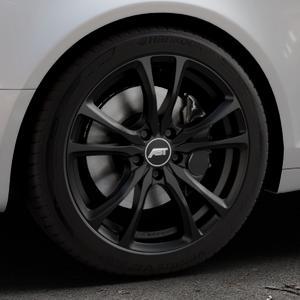 ABT Sportsline ER-C Matt black Felge mit Reifen schwarz in 18Zoll Winterfelge Alufelge auf silbernem Audi A6 Typ 4F/C6 (Avant) ⬇️ mit 15mm Tieferlegung ⬇️ Industriehalle 1 Thumbnail