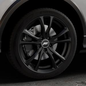 ABT Sportsline ER-C Matt black Felge mit Reifen schwarz in 18Zoll Winterfelge Alufelge auf silbernem Audi Q2 Typ GA ⬇️ mit 15mm Tieferlegung ⬇️ Industriehalle 1 Thumbnail