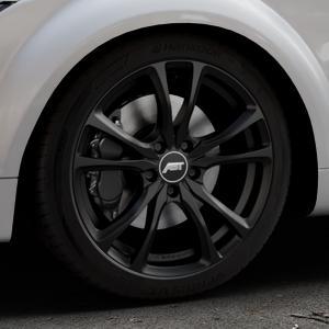 ABT Sportsline ER-C Matt black Felge mit Reifen schwarz in 18Zoll Winterfelge Alufelge auf silbernem Audi TT II Typ 8J (Roadster) ⬇️ mit 15mm Tieferlegung ⬇️ Industriehalle 1 Thumbnail