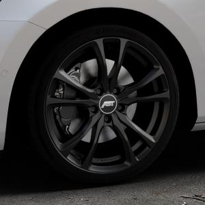 ABT Sportsline ER-C Matt black Felge mit Reifen schwarz in 18Zoll Winterfelge Alufelge auf silbernem Skoda Superb III Kombi Typ 3V ⬇️ mit 15mm Tieferlegung ⬇️ Industriehalle 1 Thumbnail