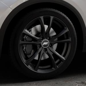 ABT Sportsline ER-C Matt black Felge mit Reifen schwarz in 18Zoll Winterfelge Alufelge auf silbernem Volkswagen (VW) T-Roc ⬇️ mit 15mm Tieferlegung ⬇️ Industriehalle 1 Thumbnail