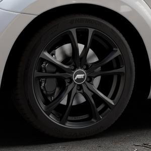 ABT Sportsline ER-C Matt black Felge mit Reifen schwarz in 18Zoll Winterfelge Alufelge auf silbernem Volkswagen (VW) The Beetle Typ 16 ⬇️ mit 15mm Tieferlegung ⬇️ Industriehalle 1 Thumbnail