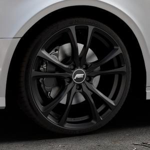 ABT Sportsline ER-C Matt black Felge mit Reifen schwarz in 19Zoll Winterfelge Alufelge auf silbernem Audi A3 Typ 8V (Limousine) Facelift ⬇️ mit 15mm Tieferlegung ⬇️ Industriehalle 1 Thumbnail