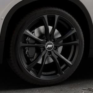 ABT Sportsline ER-C Matt black Felge mit Reifen schwarz in 19Zoll Winterfelge Alufelge auf silbernem BMW X2 Typ F39 (F2X) ⬇️ mit 15mm Tieferlegung ⬇️ Industriehalle 1 Thumbnail