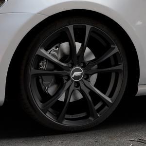 ABT Sportsline ER-C Matt black Felge mit Reifen schwarz in 19Zoll Winterfelge Alufelge auf silbernem Volkswagen (VW) Golf 7 ⬇️ mit 15mm Tieferlegung ⬇️ Industriehalle 1 Thumbnail