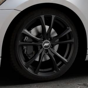 ABT Sportsline ER-C Matt black Felge mit Reifen schwarz in 19Zoll Winterfelge Alufelge auf silbernem Volkswagen (VW) Passat 3C/B8 Limousine Variant ⬇️ mit 15mm Tieferlegung ⬇️ Industriehalle 1 Thumbnail