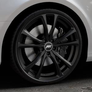 ABT Sportsline ER-C Matt black Felge mit Reifen schwarz in 20Zoll Winterfelge Alufelge auf silbernem Audi A4 Typ 8K2/B8 (Limousine) ⬇️ mit 15mm Tieferlegung ⬇️ Industriehalle 1 Thumbnail