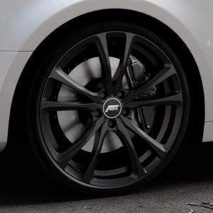ABT Sportsline ER-C Matt black Felge mit Reifen schwarz in 20Zoll Winterfelge Alufelge auf silbernem Audi A4 Typ B9 (Limousine) ⬇️ mit 15mm Tieferlegung ⬇️ Industriehalle 1 Thumbnail