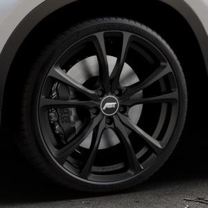 ABT Sportsline ER-C Matt black Felge mit Reifen schwarz in 20Zoll Winterfelge Alufelge auf silbernem BMW X1 Typ F48 (UKL-L) (F1X) ⬇️ mit 15mm Tieferlegung ⬇️ Industriehalle 1 Thumbnail