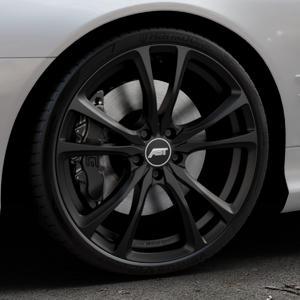 ABT Sportsline ER-C Matt black Felge mit Reifen schwarz in 20Zoll Winterfelge Alufelge auf silbernem Mercedes SL Typ R230 ⬇️ mit 15mm Tieferlegung ⬇️ Industriehalle 1 Thumbnail