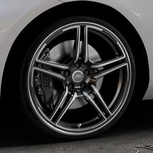 ABT Sportsline FR Mystic black Felge mit Reifen schwarz mehrfarbig in 20Zoll Alufelge auf silbernem BMW 214d Typ F2AT (F45 Active Tourer) 216d 216i 218d 218i 220d xDrive 220i 225i 225xe ⬇️ mit 15mm Tieferlegung ⬇️ Industriehalle 1 Thumbnail
