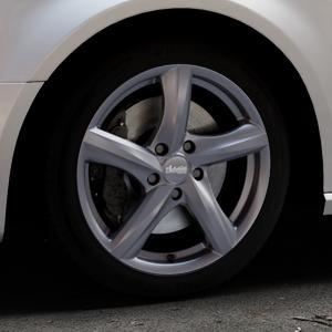 ADVANTI Nepa Matt gun metal Felge mit Reifen grau Titan anthrazit in 17Zoll Winterfelge Alufelge auf silbernem Audi A3 Typ 8V (Sportback) ⬇️ mit 15mm Tieferlegung ⬇️ Industriehalle 1 Thumbnail