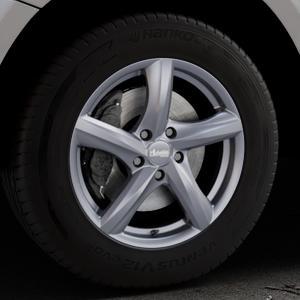 ADVANTI Nepa Matt gun metal Felge mit Reifen grau Titan anthrazit in 17Zoll Winterfelge Alufelge auf silbernem Audi Q5 I Typ 8R ⬇️ mit 15mm Tieferlegung ⬇️ Industriehalle 1 Thumbnail