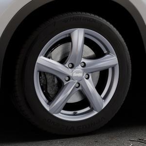 ADVANTI Nepa Matt gun metal Felge mit Reifen grau Titan anthrazit in 17Zoll Winterfelge Alufelge auf silbernem BMW X1 Typ F48 (UKL-L) (F1X) ⬇️ mit 15mm Tieferlegung ⬇️ Industriehalle 1 Thumbnail
