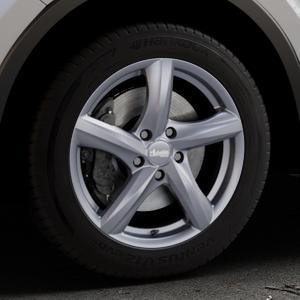 ADVANTI Nepa Matt gun metal Felge mit Reifen grau Titan anthrazit in 17Zoll Winterfelge Alufelge auf silbernem Toyota C-HR Typ AX1T(EU,M) AX1T(EU,M)-TMG ⬇️ mit 15mm Tieferlegung ⬇️ Industriehalle 1 Thumbnail
