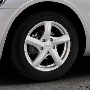 ADVANTI Nepa Silver Felge mit Reifen silber in 15Zoll Winterfelge Alufelge auf silbernem Chrysler PT Cruiser Cabriolet ⬇️ mit 15mm Tieferlegung ⬇️ Industriehalle 1 Thumbnail