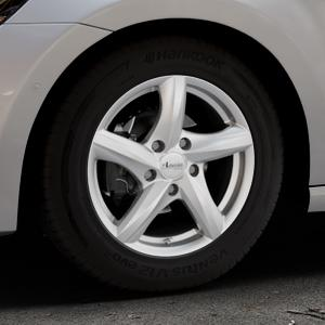 ADVANTI Nepa Silver Felge mit Reifen silber in 15Zoll Winterfelge Alufelge auf silbernem Volkswagen (VW) Golf 7 Sportsvan ⬇️ mit 15mm Tieferlegung ⬇️ Industriehalle 1 Thumbnail