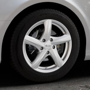 ADVANTI Nepa Silver Felge mit Reifen silber in 16Zoll Winterfelge Alufelge auf silbernem Audi A4 Typ 8K2/B8 (Limousine) ⬇️ mit 15mm Tieferlegung ⬇️ Industriehalle 1 Thumbnail