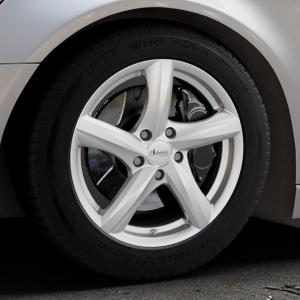 ADVANTI Nepa Silver Felge mit Reifen silber in 17Zoll Winterfelge Alufelge auf silbernem Audi A6 Typ 4G/C7 (Avant) ⬇️ mit 15mm Tieferlegung ⬇️ Industriehalle 1 Thumbnail