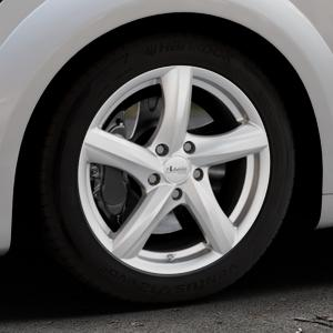 ADVANTI Nepa Silver Felge mit Reifen silber in 17Zoll Winterfelge Alufelge auf silbernem Audi TT III Typ 8S (Coupé) (Roadster) ⬇️ mit 15mm Tieferlegung ⬇️ Industriehalle 1 Thumbnail