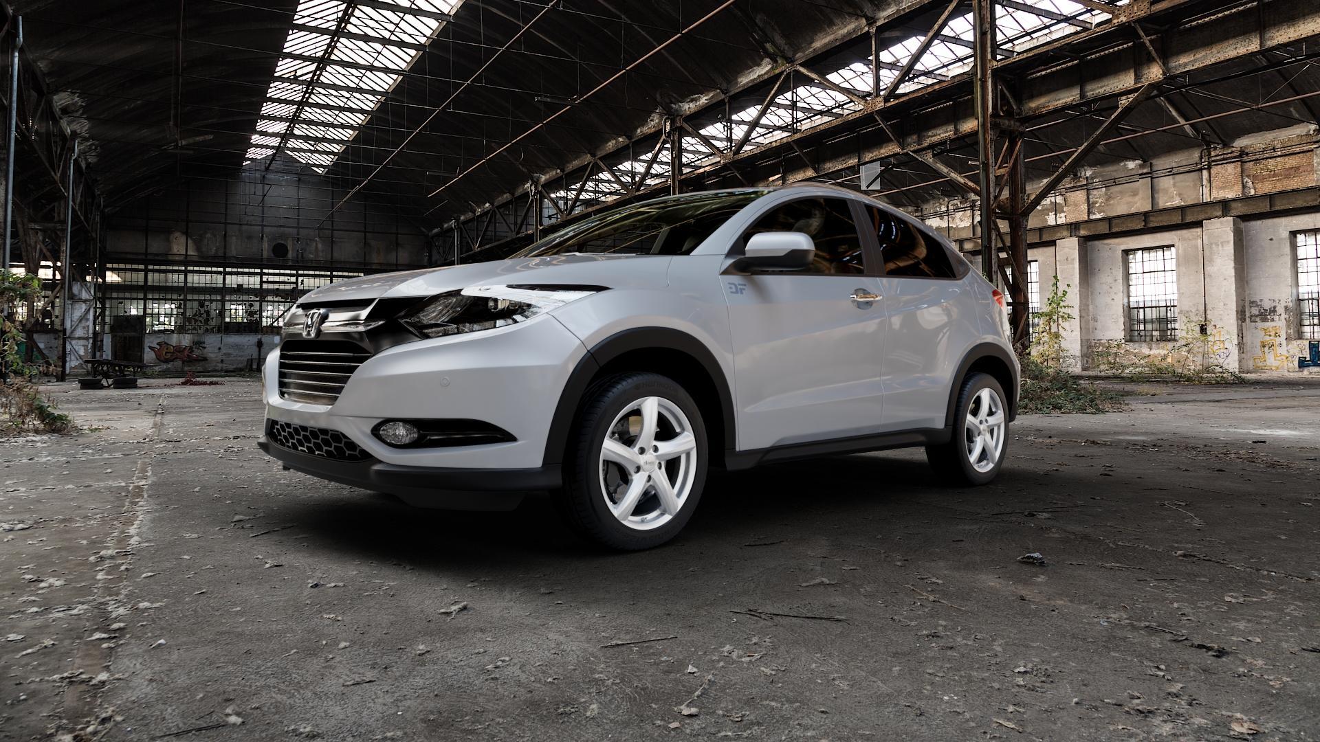 ADVANTI Nepa Silver Felge mit Reifen silber in 17Zoll Winterfelge Alufelge auf silbernem Honda HR-V II (RU) ⬇️ mit 15mm Tieferlegung ⬇️ Industriehalle 1 Camera_000
