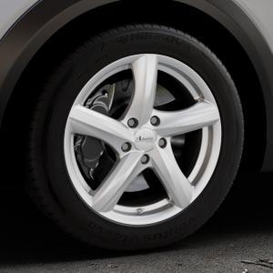 ADVANTI Nepa Silver Felge mit Reifen silber in 17Zoll Winterfelge Alufelge auf silbernem Mazda CX-3 Typ DJ1 ⬇️ mit 15mm Tieferlegung ⬇️ Industriehalle 1 Thumbnail