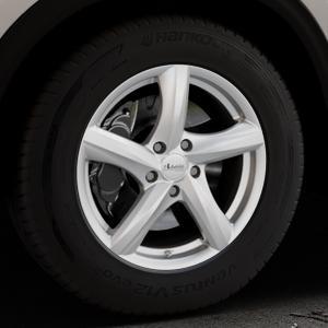 ADVANTI Nepa Silver Felge mit Reifen silber in 17Zoll Winterfelge Alufelge auf silbernem Mazda CX-5 Typ KF ⬇️ mit 15mm Tieferlegung ⬇️ Industriehalle 1 Thumbnail