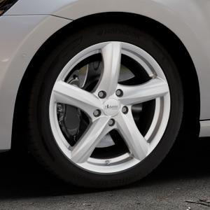 ADVANTI Nepa Silver Felge mit Reifen silber in 17Zoll Winterfelge Alufelge auf silbernem Volkswagen (VW) Golf 7 Sportsvan ⬇️ mit 15mm Tieferlegung ⬇️ Industriehalle 1 Thumbnail