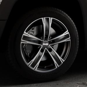 ADVANTI Raccoon Black matt polished Felge mit Reifen silber schwarz mehrfarbig in 17Zoll Alufelge auf silbernem Jeep Renegade Typ BU ⬇️ mit 15mm Tieferlegung ⬇️ Industriehalle 1 Thumbnail