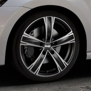 ADVANTI Raccoon Black matt polished Felge mit Reifen silber schwarz mehrfarbig in 18Zoll Alufelge auf silbernem Volkswagen (VW) Golf 7 Sportsvan ⬇️ mit 15mm Tieferlegung ⬇️ Industriehalle 1 Thumbnail