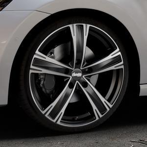 ADVANTI Raccoon Black matt polished Felge mit Reifen silber schwarz mehrfarbig in 19Zoll Alufelge auf silbernem Volkswagen (VW) Golf 7 Sportsvan ⬇️ mit 15mm Tieferlegung ⬇️ Industriehalle 1 Thumbnail