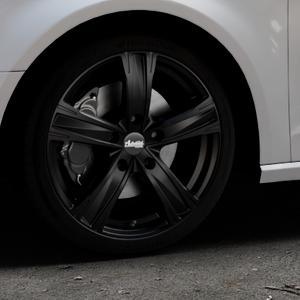 ADVANTI Raccoon Matt black Felge mit Reifen schwarz in 18Zoll Winterfelge Alufelge auf silbernem Audi A3 Typ 8V ⬇️ mit 15mm Tieferlegung ⬇️ Industriehalle 1 Thumbnail