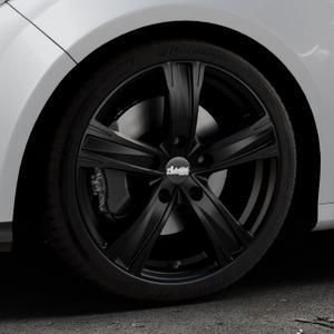 ADVANTI Raccoon Matt black Felge mit Reifen schwarz in 18Zoll Winterfelge Alufelge auf silbernem Ford Focus III Typ DYB (Schrägheck) (Stufenheck) Facelift ⬇️ mit 15mm Tieferlegung ⬇️ Industriehalle 1 Thumbnail
