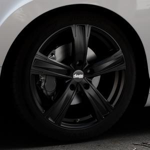 ADVANTI Raccoon Matt black Felge mit Reifen schwarz in 19Zoll Winterfelge Alufelge auf silbernem Bentley Continental Flying Spur GT GTC ⬇️ mit 15mm Tieferlegung ⬇️ Industriehalle 1 Thumbnail