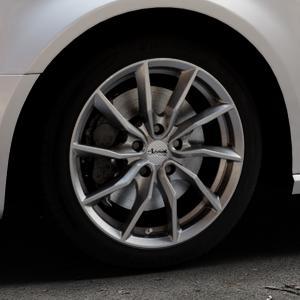 ADVANTI Turba hd Hyper dark Felge mit Reifen silber in 17Zoll Winterfelge Alufelge auf silbernem Audi A3 Typ 8V (Sportback) ⬇️ mit 15mm Tieferlegung ⬇️ Industriehalle 1 Thumbnail
