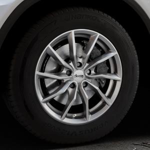 ADVANTI Turba hd Hyper dark Felge mit Reifen silber in 17Zoll Winterfelge Alufelge auf silbernem Mercedes GLC-Klasse Typ X253 ⬇️ mit 15mm Tieferlegung ⬇️ Industriehalle 1 Thumbnail