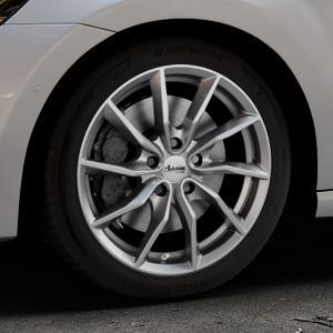ADVANTI Turba hd Hyper dark Felge mit Reifen silber in 17Zoll Winterfelge Alufelge auf silbernem Volkswagen (VW) Golf 7 Sportsvan ⬇️ mit 15mm Tieferlegung ⬇️ Industriehalle 1 Thumbnail