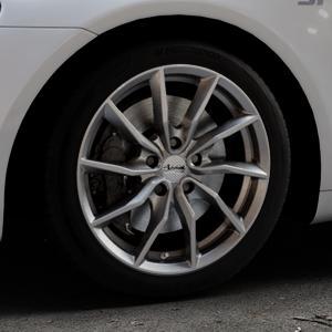 ADVANTI Turba hd Hyper dark Felge mit Reifen silber in 17Zoll Winterfelge Alufelge auf silbernem Volkswagen (VW) Scirocco III Typ 13 ⬇️ mit 15mm Tieferlegung ⬇️ Industriehalle 1 Thumbnail