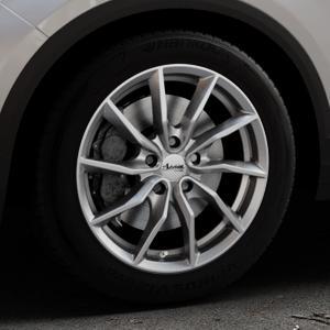 ADVANTI Turba hd Hyper dark Felge mit Reifen silber in 17Zoll Winterfelge Alufelge auf silbernem Volkswagen (VW) T-Roc ⬇️ mit 15mm Tieferlegung ⬇️ Industriehalle 1 Thumbnail
