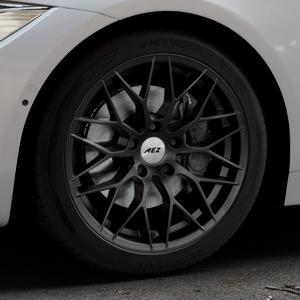 AEZ Antigua Black matt Felge mit Reifen schwarz in 18Zoll Winterfelge Alufelge auf silbernem BMW 418d Typ F36 (Gran Coupe) 420d xDrive 420i 428i 435i 430d 440i 418i 430i 425d ⬇️ mit 15mm Tieferlegung ⬇️ Industriehalle 1 Thumbnail