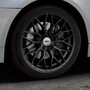 AEZ Antigua Black matt Felge mit Reifen schwarz in 18Zoll Winterfelge Alufelge auf silbernem BMW 520i Typ E60 (Limousine) 525i 530i 530d 525d 535d 545i 523i 540i 550i 520d 525xd 530xd 530xi 525xi ⬇️ mit 15mm Tieferlegung ⬇️ Industriehalle 1 Thumbnail