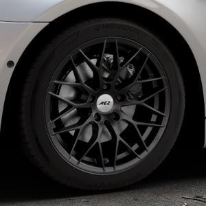 AEZ Antigua Black matt Felge mit Reifen schwarz in 18Zoll Winterfelge Alufelge auf silbernem BMW 640i Typ F13 (Coupe) 650i 640d xDrive ⬇️ mit 15mm Tieferlegung ⬇️ Industriehalle 1 Thumbnail