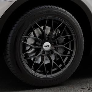 AEZ Antigua Black matt Felge mit Reifen schwarz in 18Zoll Winterfelge Alufelge auf silbernem BMW X3 Typ F25 (X3, X-N1) ⬇️ mit 15mm Tieferlegung ⬇️ Industriehalle 1 Thumbnail