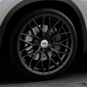 AEZ Antigua Black matt Felge mit Reifen schwarz in 19Zoll Winterfelge Alufelge auf silbernem BMW X1 Typ E84 (X1, X-N1, X1-N1) ⬇️ mit 15mm Tieferlegung ⬇️ Industriehalle 1 Thumbnail