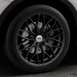 AEZ Antigua Black matt Felge mit Reifen schwarz in 19Zoll Winterfelge Alufelge auf silbernem BMW X3 Typ F25 (X3, X-N1) ⬇️ mit 15mm Tieferlegung ⬇️ Industriehalle 1 Thumbnail