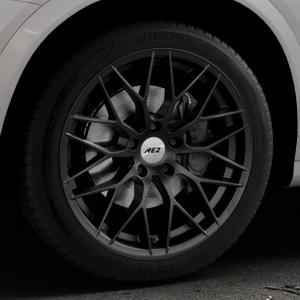 AEZ Antigua Black matt Felge mit Reifen schwarz in 19Zoll Winterfelge Alufelge auf silbernem BMW X4 Typ F26 (X3, X-N1) ⬇️ mit 15mm Tieferlegung ⬇️ Industriehalle 1 Thumbnail